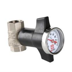 "Кран шаровой c термометром VALTEC, 3/4"""