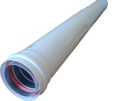 Алюминиевая труба расширеная с теплоизоляцией Ø 80-100 L 500 mm арт. Рт-80/100-500