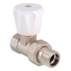 """Клапан ручной VALTEC, для радиатора, прямой 1/2""""(компактный)"""