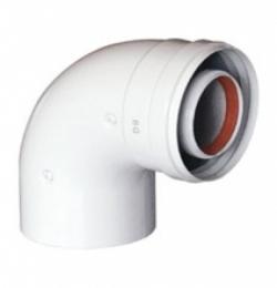 Угол 90 гр. BCSA 0486 коаксиальный 60/100 (White)
