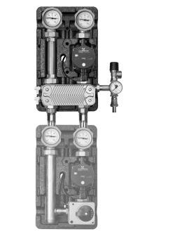 ME 45811.30 группа насосная, поколение 8, с теплообменником 30 пластин, насос UPS 25-60