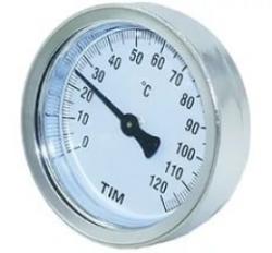 """Термометр TIM с гильзой 1/4""""(0℃ - 120℃), резьба 1/2"""", биметалл"""