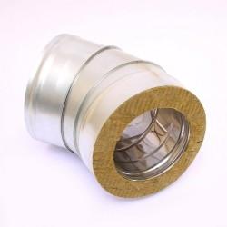 Сэндвич-колено Ferrum 135° (430/0,5 мм + нерж.) Ø120х200