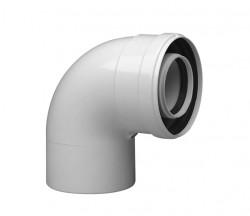 Колено коаксиальное алюминиевое 90 гр. 60/100 CC-NV-01 SAMRISE